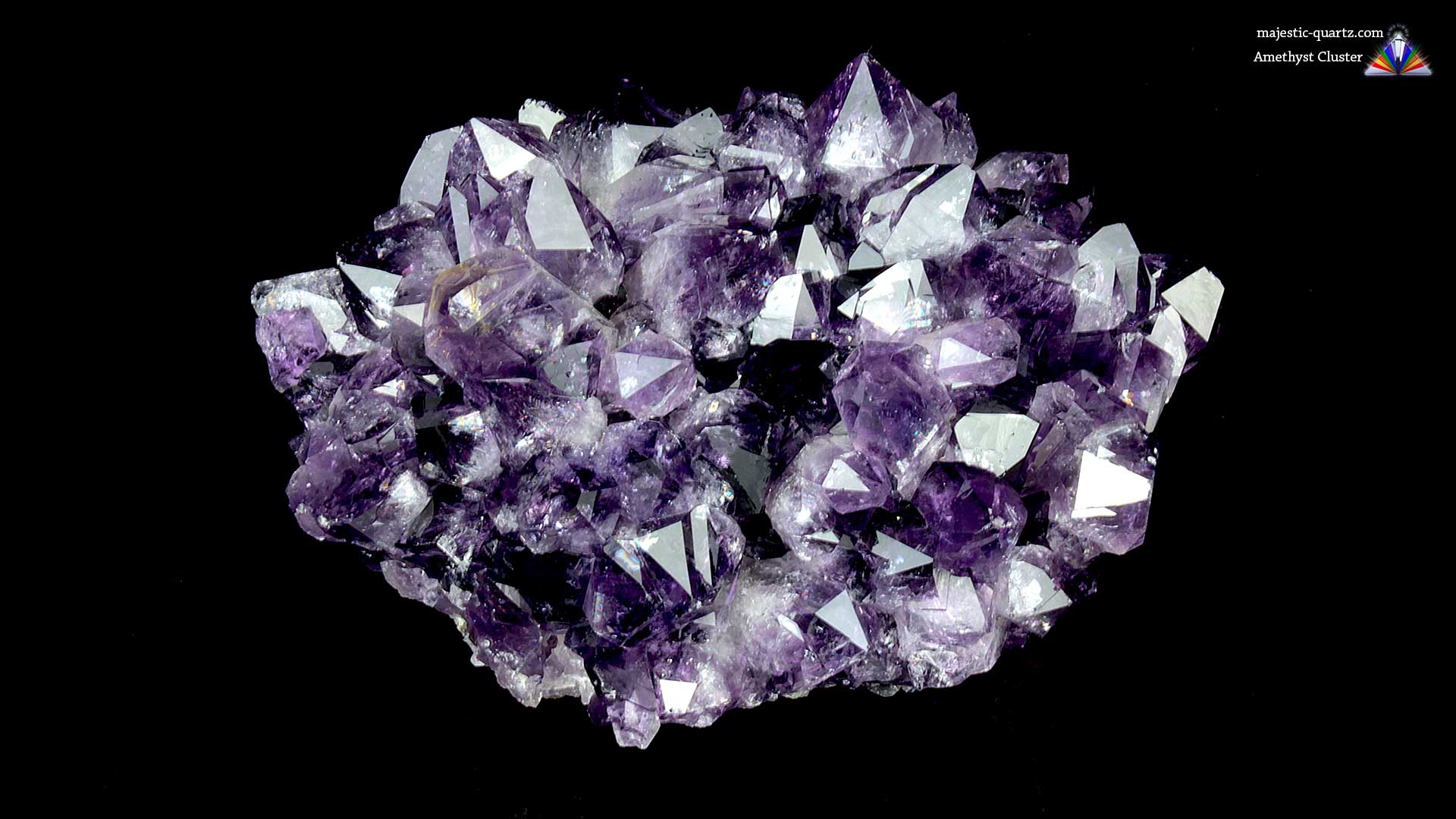 Amethyst Quartz Crystal Cluster - Mineral Specimen Properties and Meaning