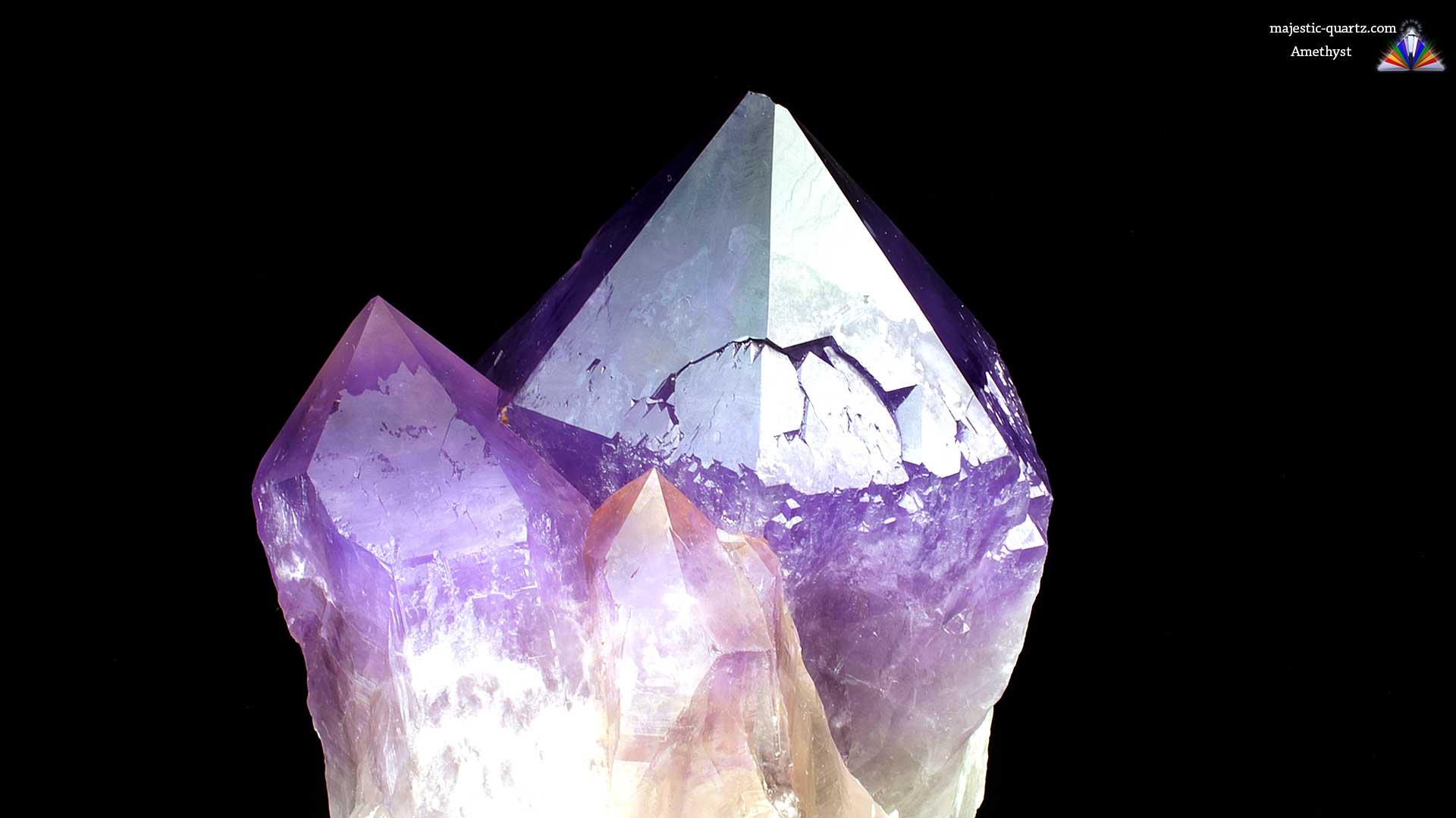 Amethyst Quartz Crystal Point - Mineral Specimen