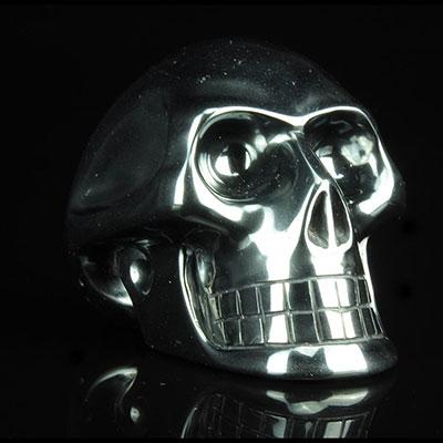 Carved Hematite Skull