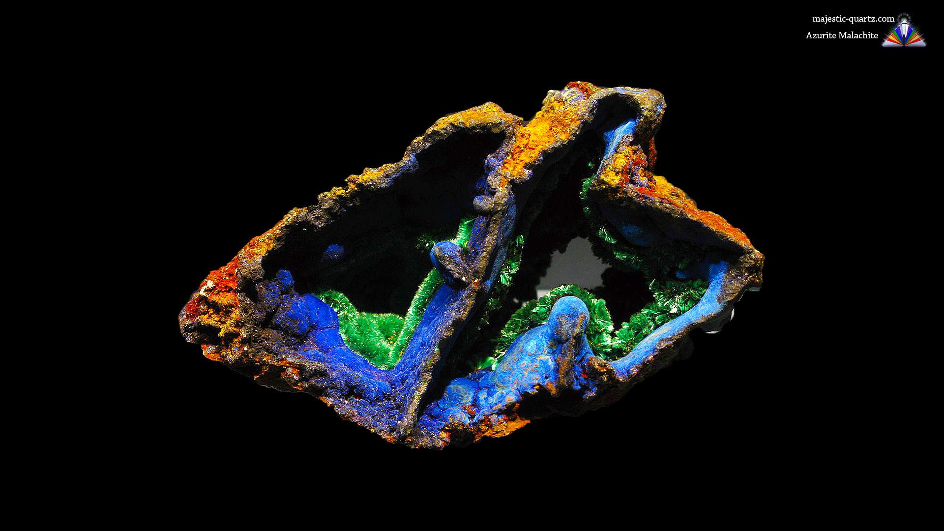 Azurite Malachite Crystal Specimen - Mineral Specimen