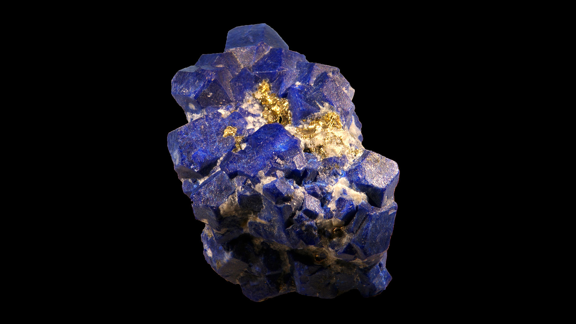 Lapis Specimen - Mineral Specimen - Original photo by Didier Descouens - Modified Background by Crystal Information