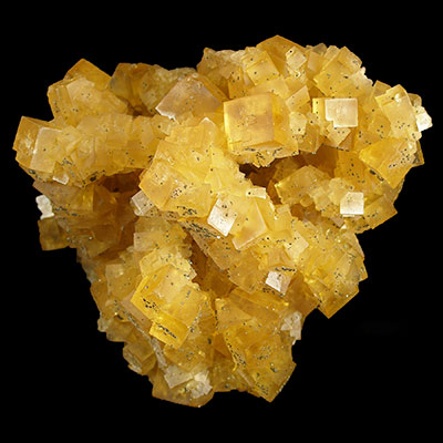 Gold Fluorite Cluster