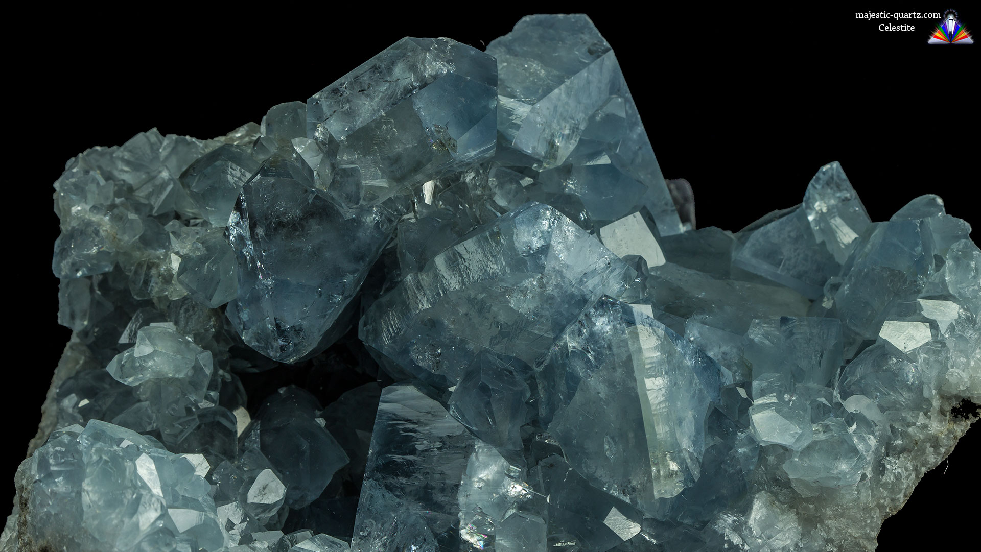Celestite Crystal Cluster - Photograph by Anthony Bradford