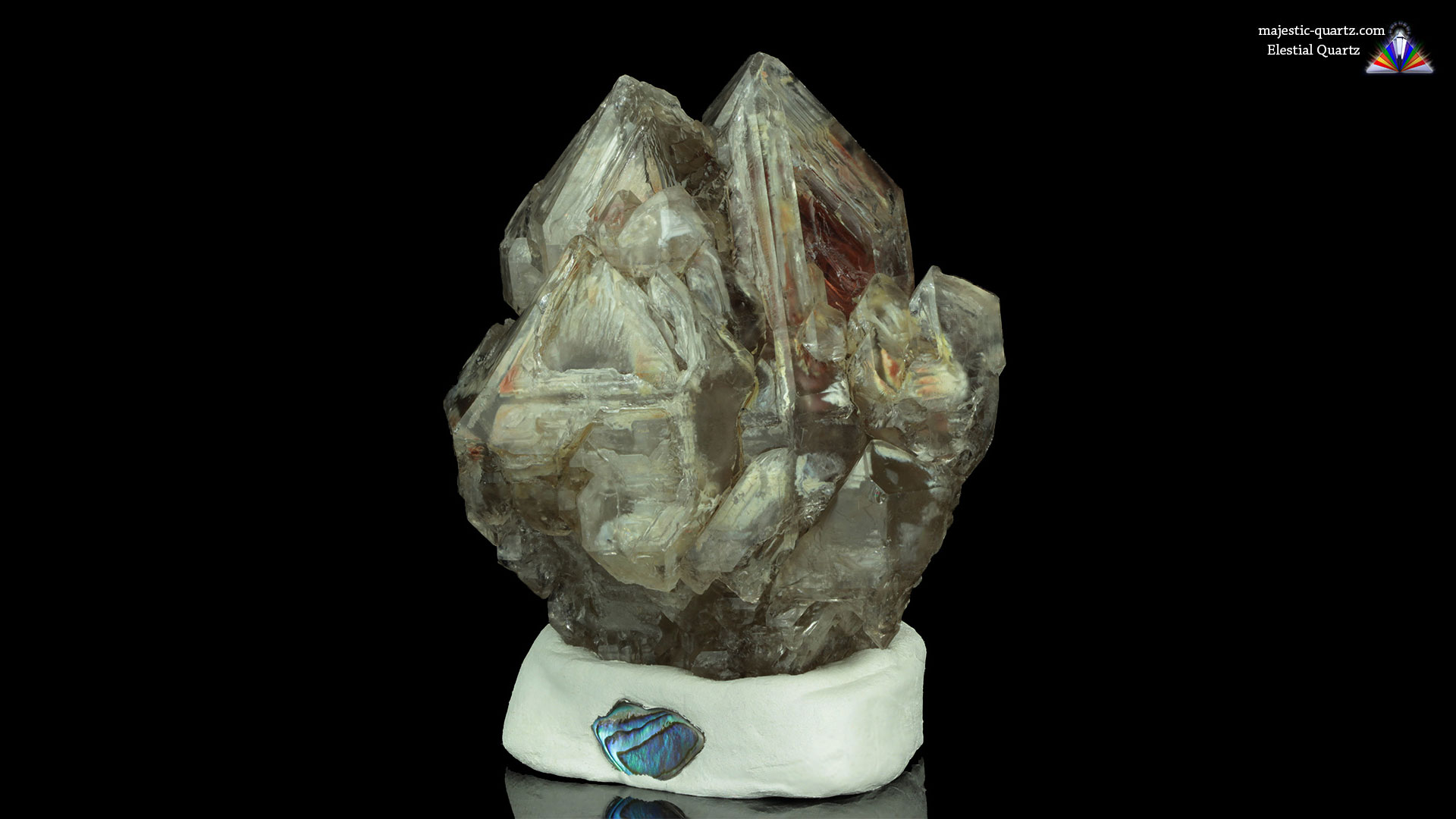 Clay Included Elestial Quartz Crystal - Photograph by Anthony Bradford