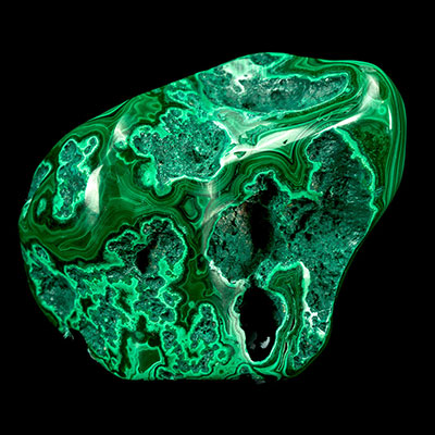 Polished Malachite Brain!