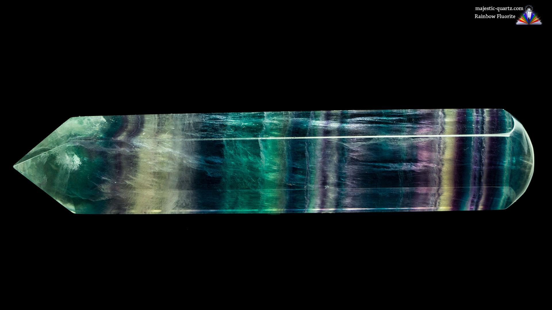 Rainbow Fluorite Massage Wand - Photograph by Anthony Bradford