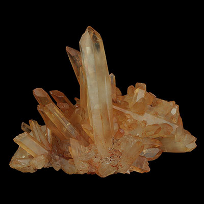 Tangerine Quartz Future Time-Link Crystal