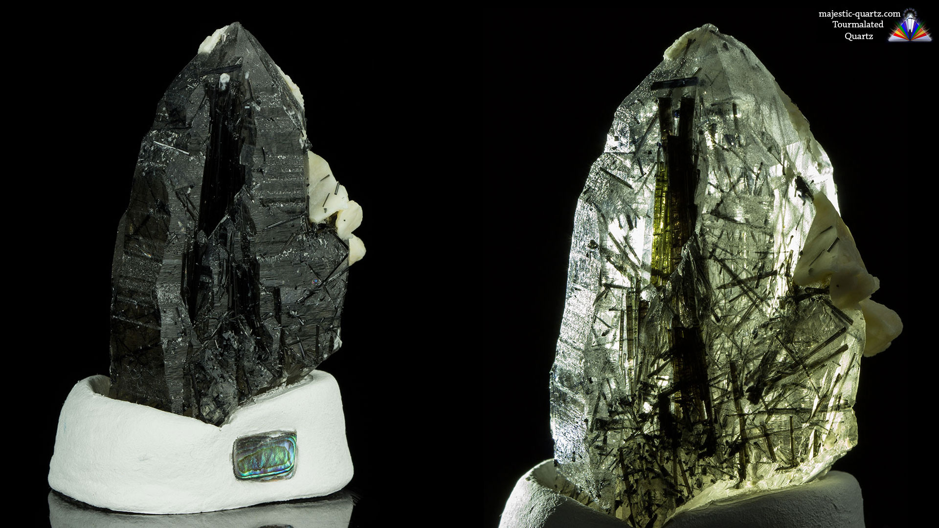 tourmalated quartz properties and meaning   photos