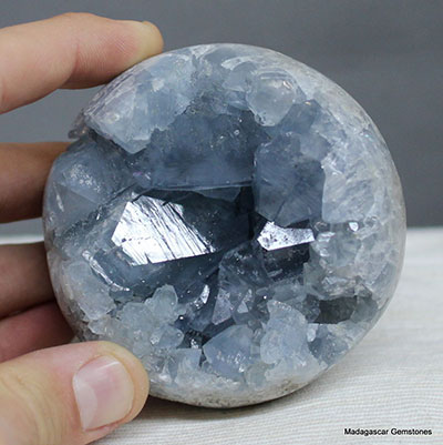 Real Celestite Geode Sphere