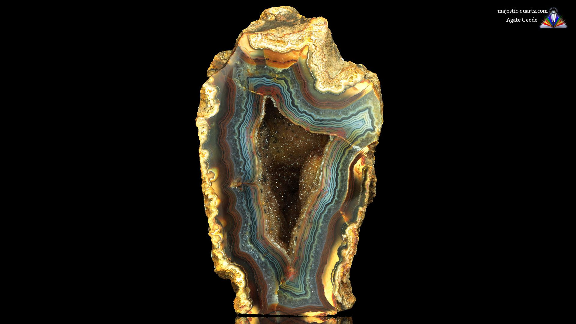 Agate Geode - Photograph by Anthony Bradford