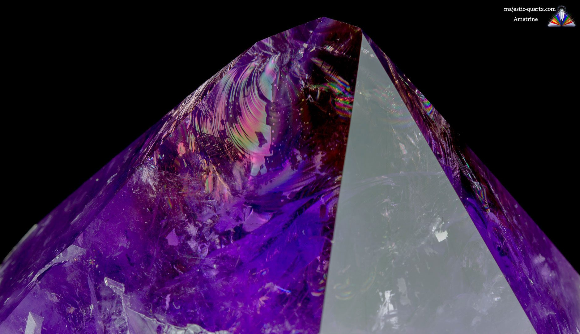 Ametrine Crystal - Photograph by Anthony Bradford