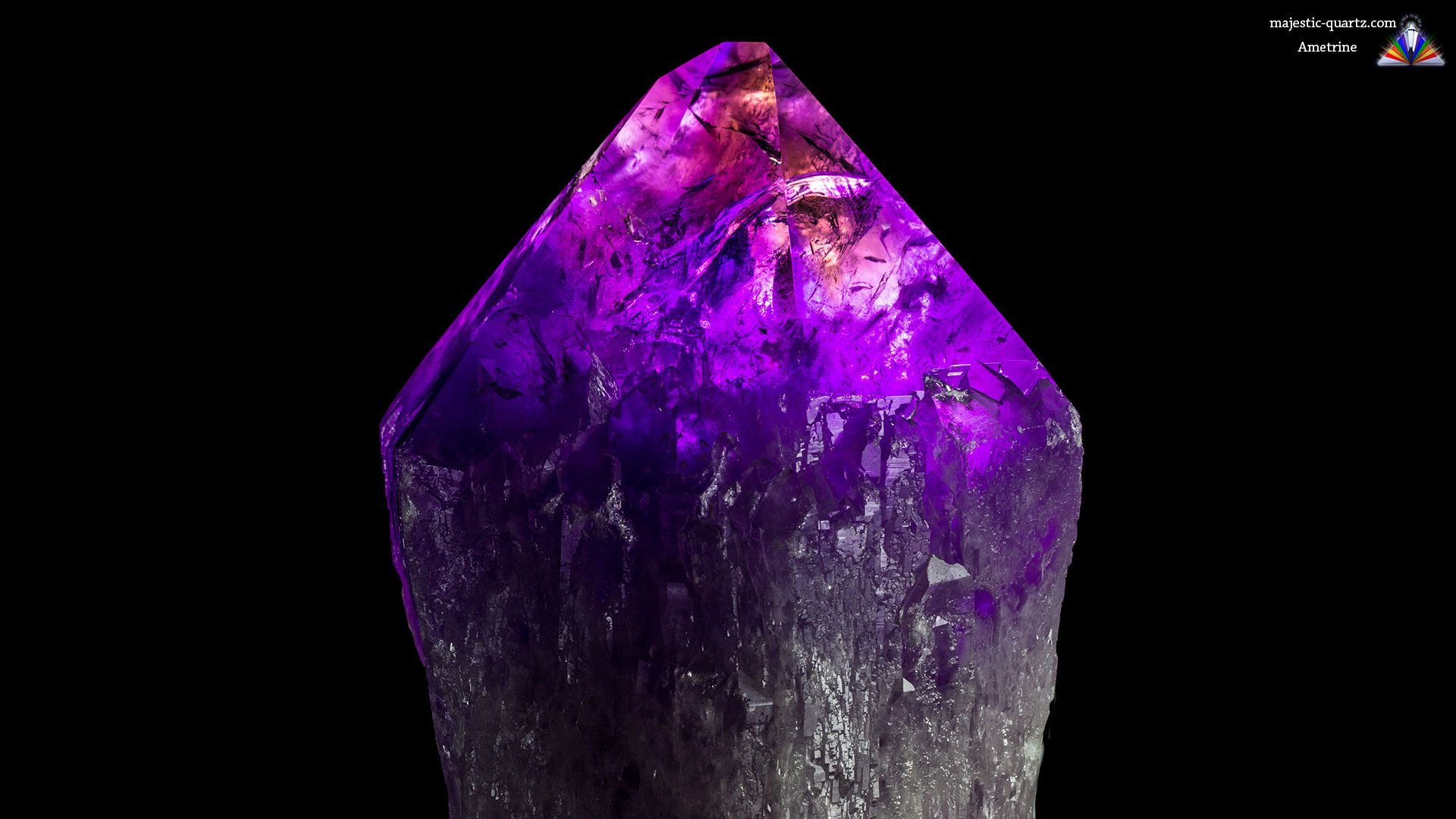 Ametrine Crystal - Photograph by Anthony Bradford