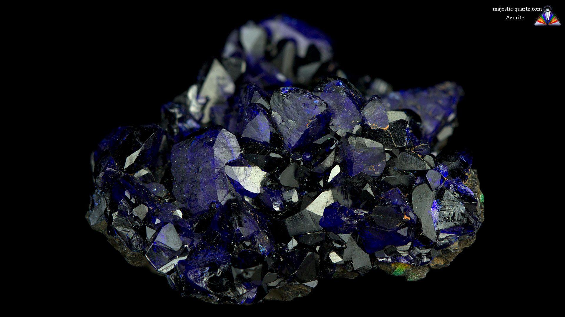 Azurite Crystal Specimen - Photograph by Anthony Bradford