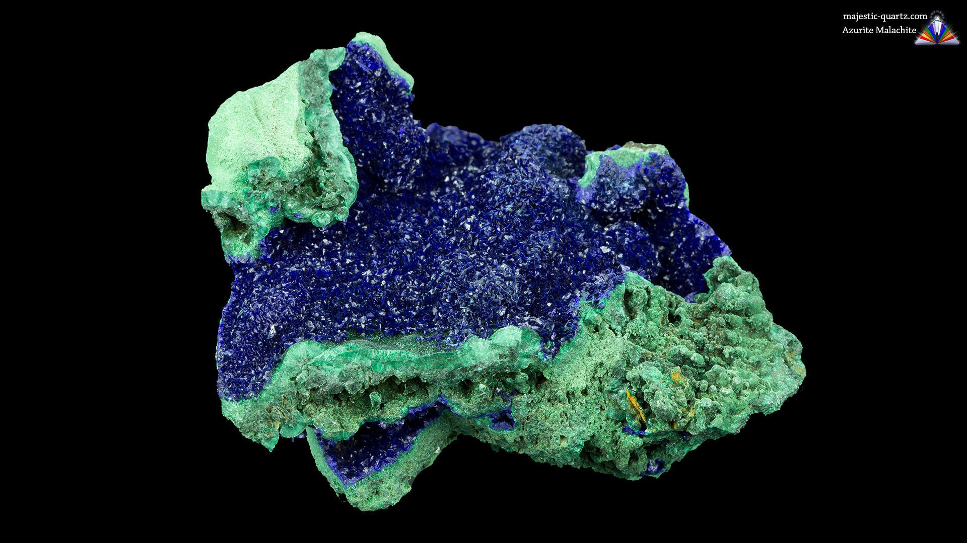 Azurite Malachite Crystal Specimen - Photograph by Anthony Bradford