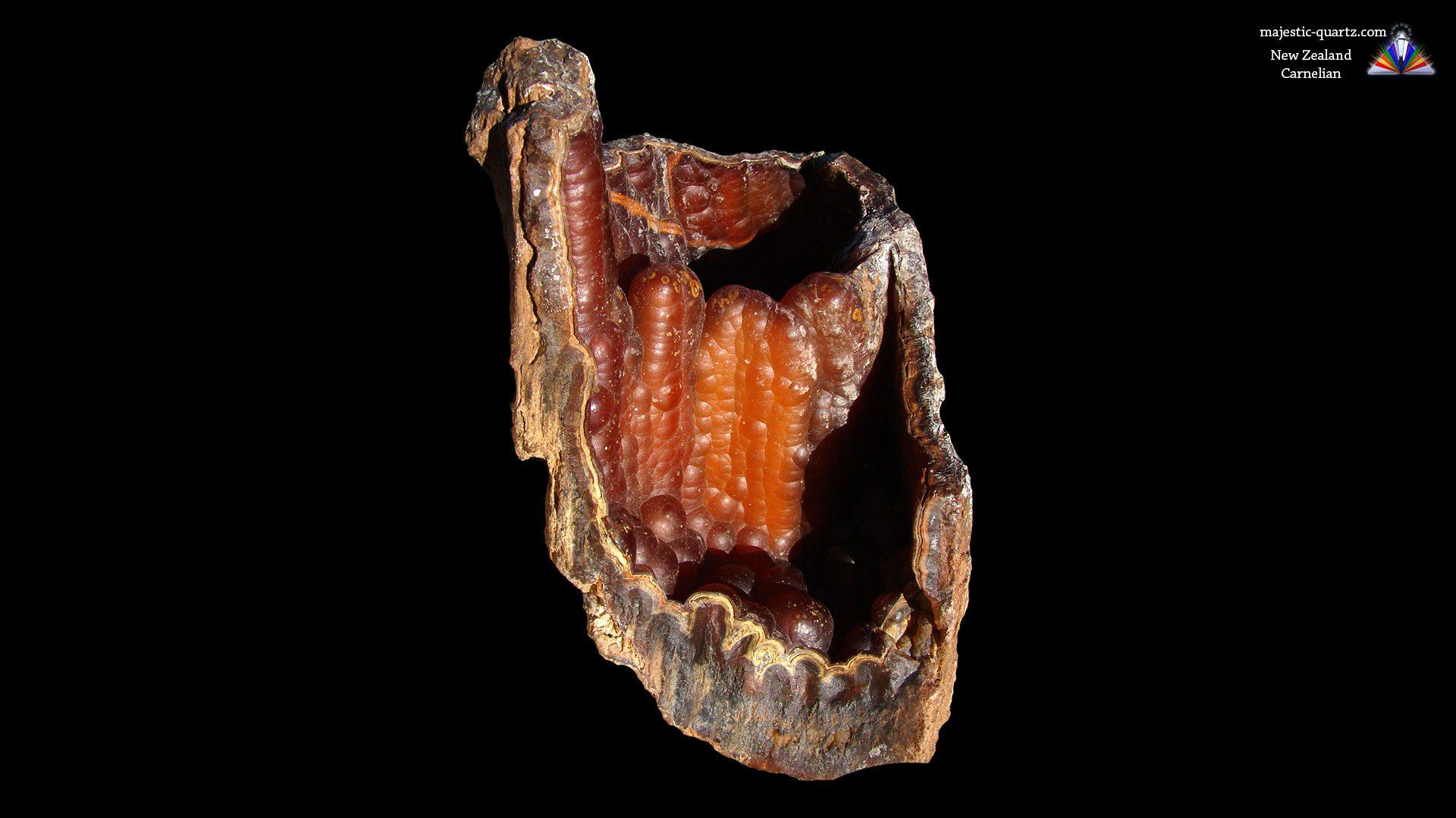Genuine Carnelian Specimen From New Zealand - Photograph by Anthony Bradford
