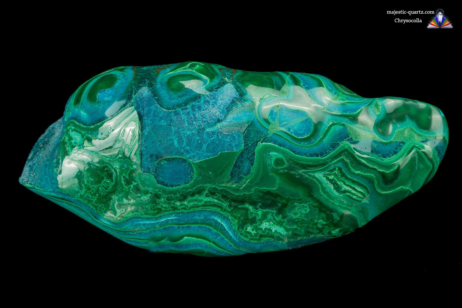 Polished Chrysocolla Specimen - Photograph by Anthony Bradford