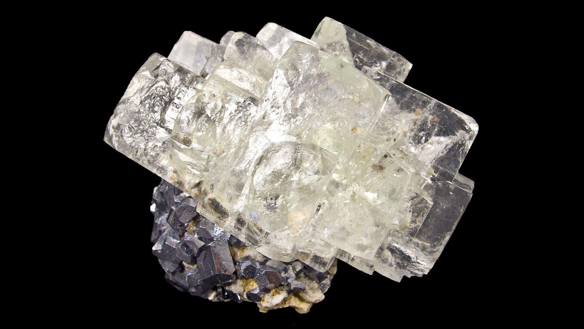 Clear White Fluorite Cluster Specimen
