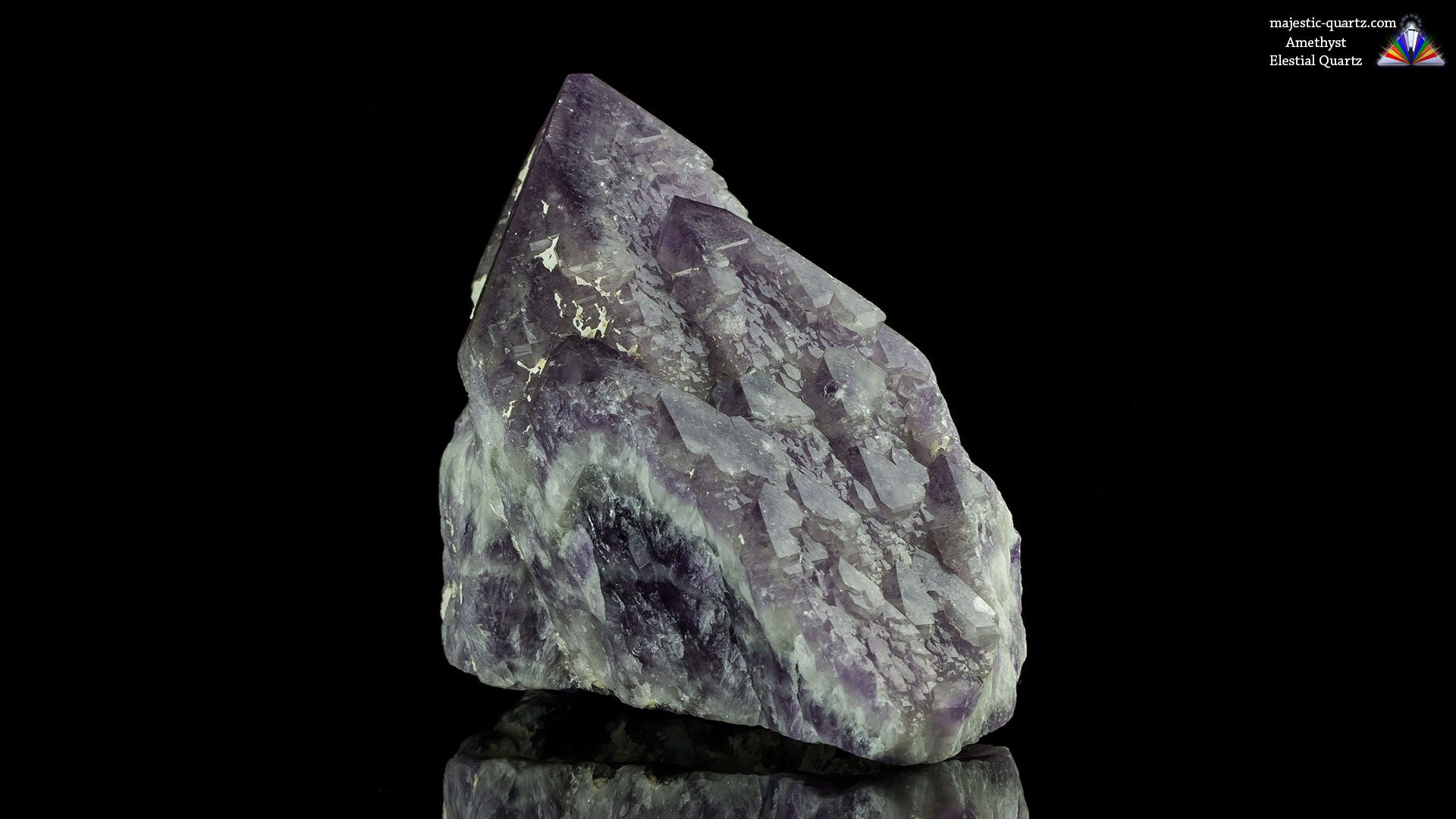 Amethyst Elestial Quartz Crystal - Photograph by Anthony Bradford