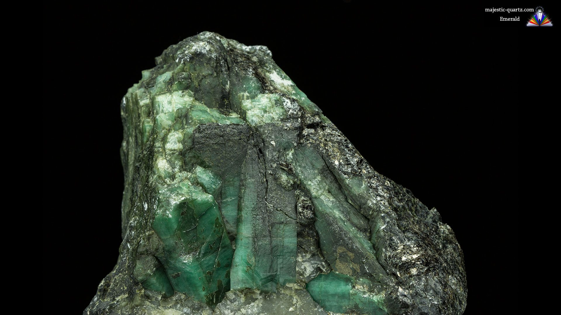 Emerald on Matrix Crystal Specimen - Photograph by Anthony Bradford