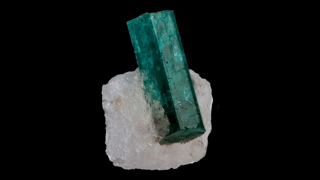 Green Beryl Terminated Crystal Specimen - (Emerald) Original Photograph by Rob Lavinsky, iRocks.com
