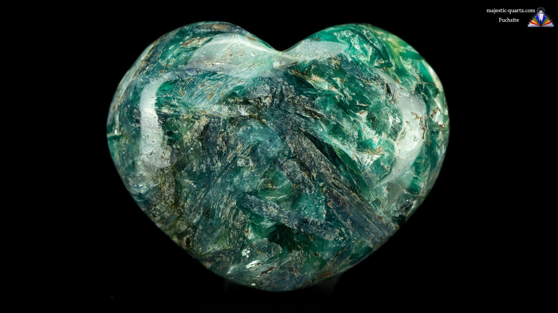 Fuchsite Heart - Photograph by Anthony Bradford