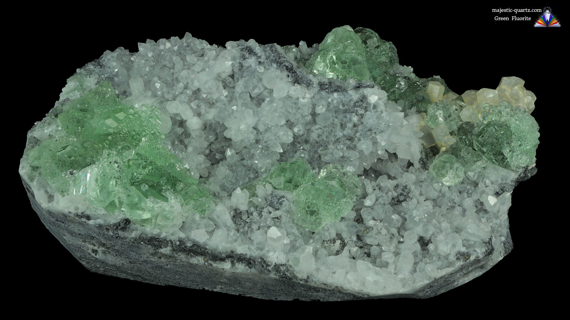 Green Fluorite Cluster Mineral Specimen - Photograph by Anthony Bradford