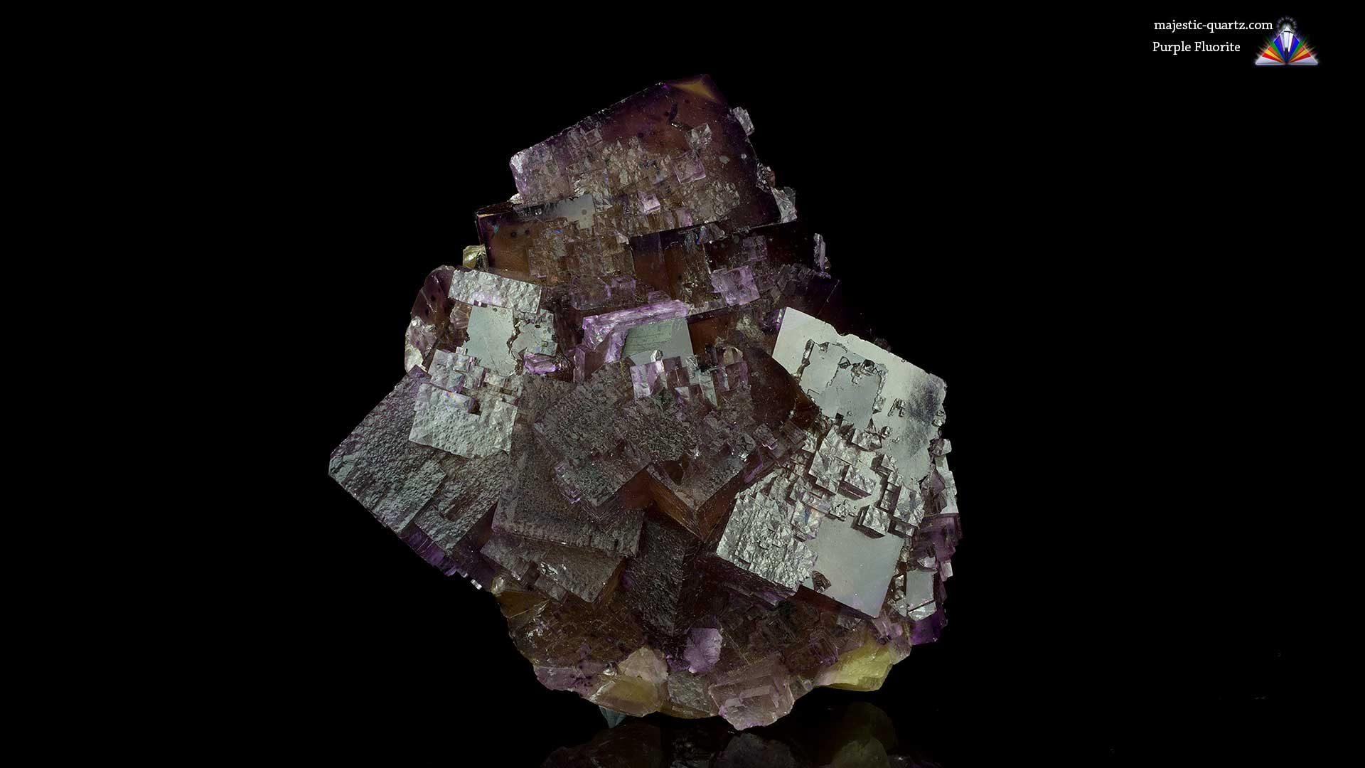 Purple Fluorite Cluster Crystal/Mineral Specimen