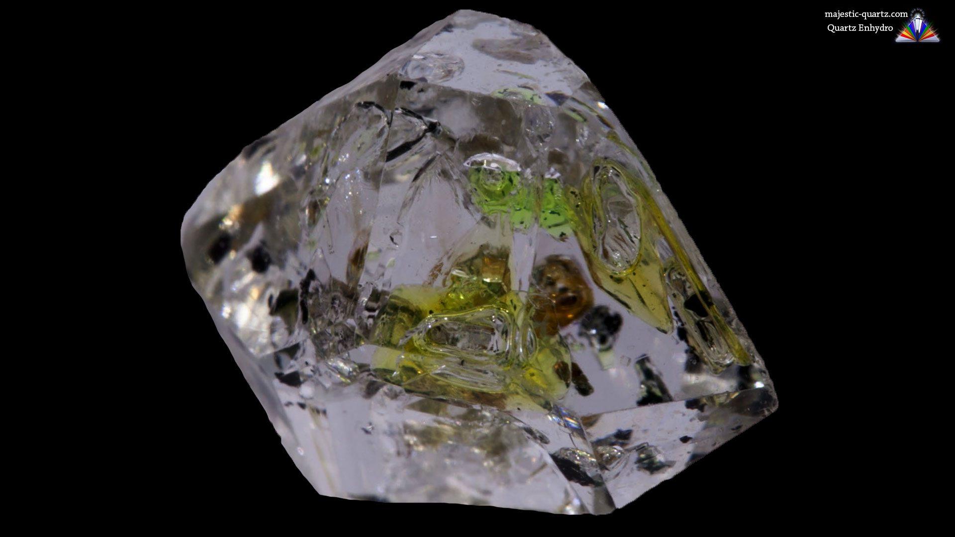 Enhydro Quartz Crystal Specimen - Original Photograph by http://spectraminerals.com