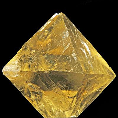Gold Fluorite Octahedron