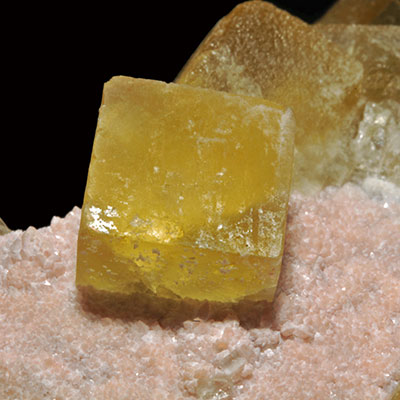 Gold Fluorite Crystal