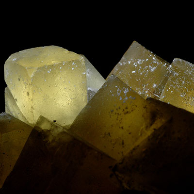 Gold Fluorite Crystals