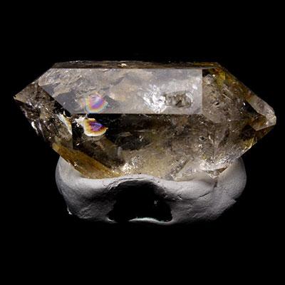 Smoky Herkimer Diamond Quartz Crystal With Rainbows
