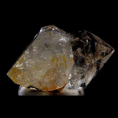 Included Smoky Herkimer Diamond Quartz Crystal