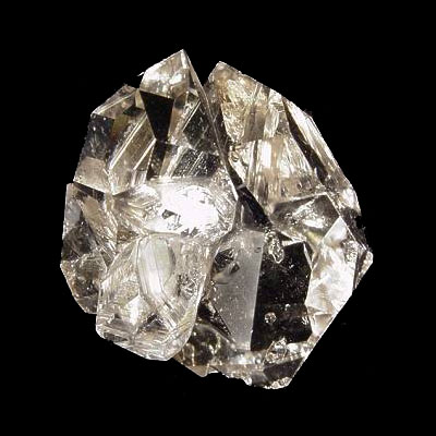 Herkimer Diamond Quartz Crystal Cluster