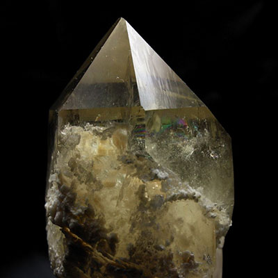 Smoky Elestial Rainbow Quartz Crystal
