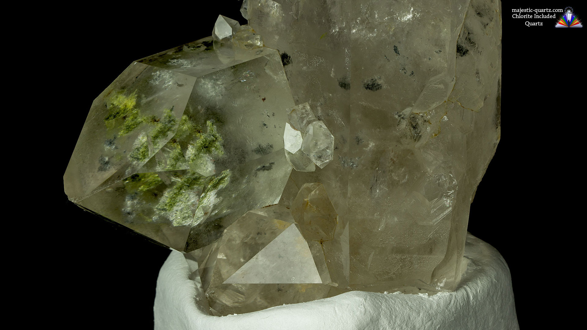 Chlorite Included Quartz Properties and Meaning + Photos