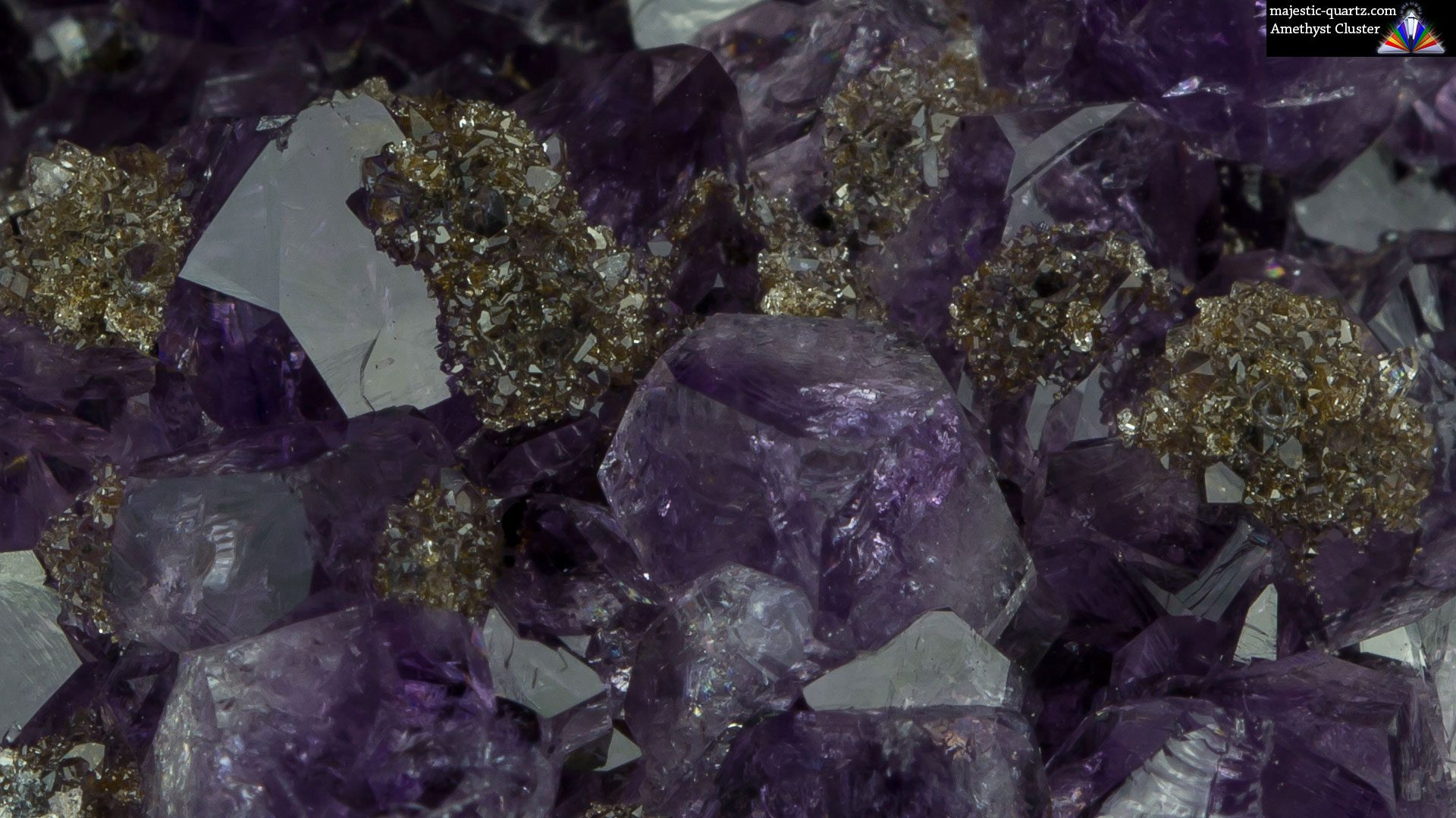Amethyst Cluster With Goethite Specimen - Photograph by Anthony Bradford