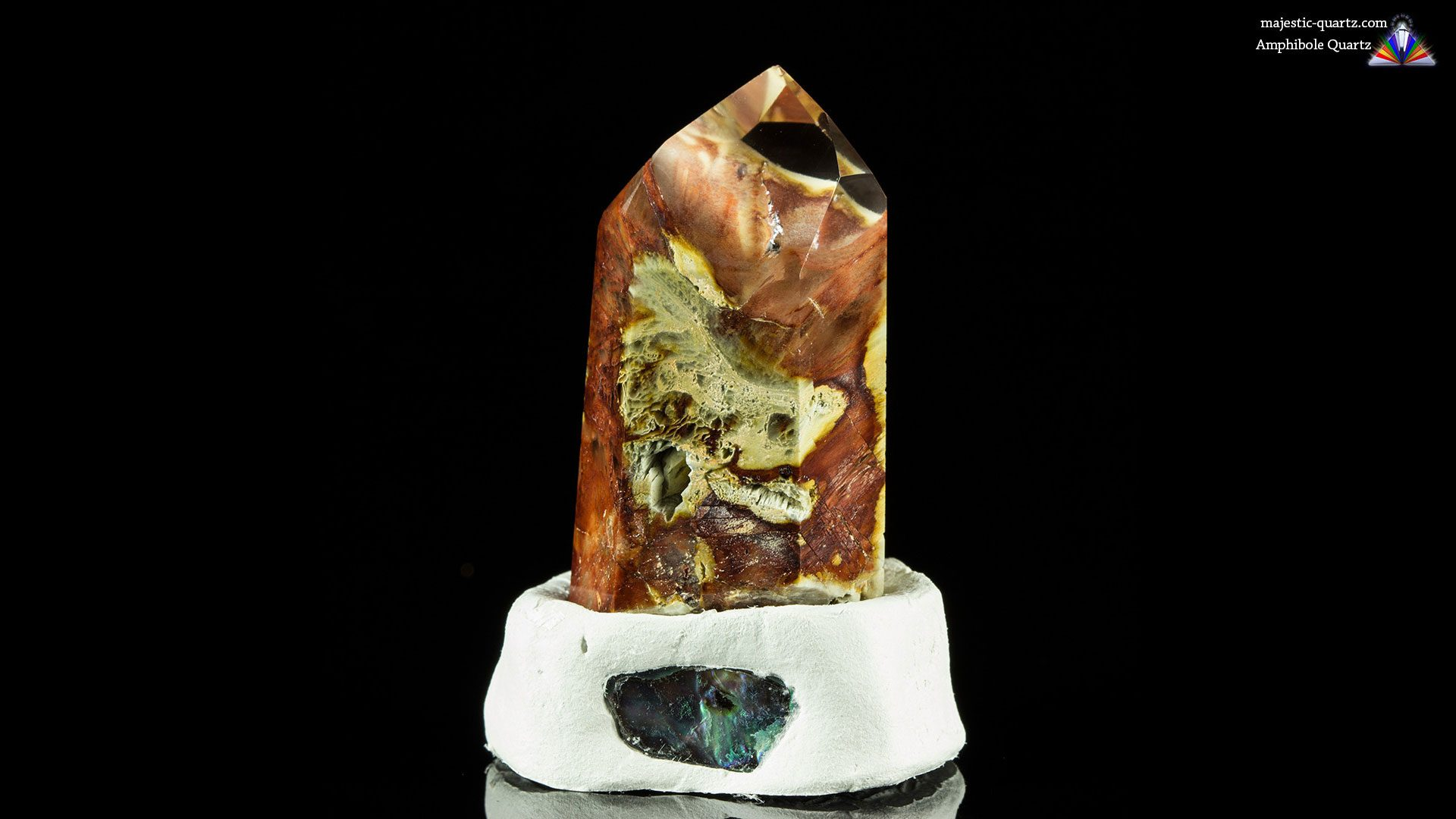 Amphibole Quartz Crystal Specimen - Photograph by Anthony Bradford