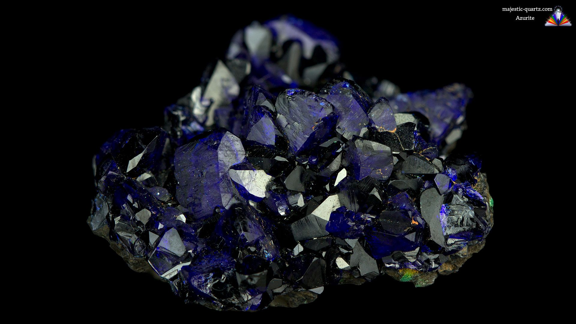 Azurite Crystal Specimen - Photograph by Anthony Bradford