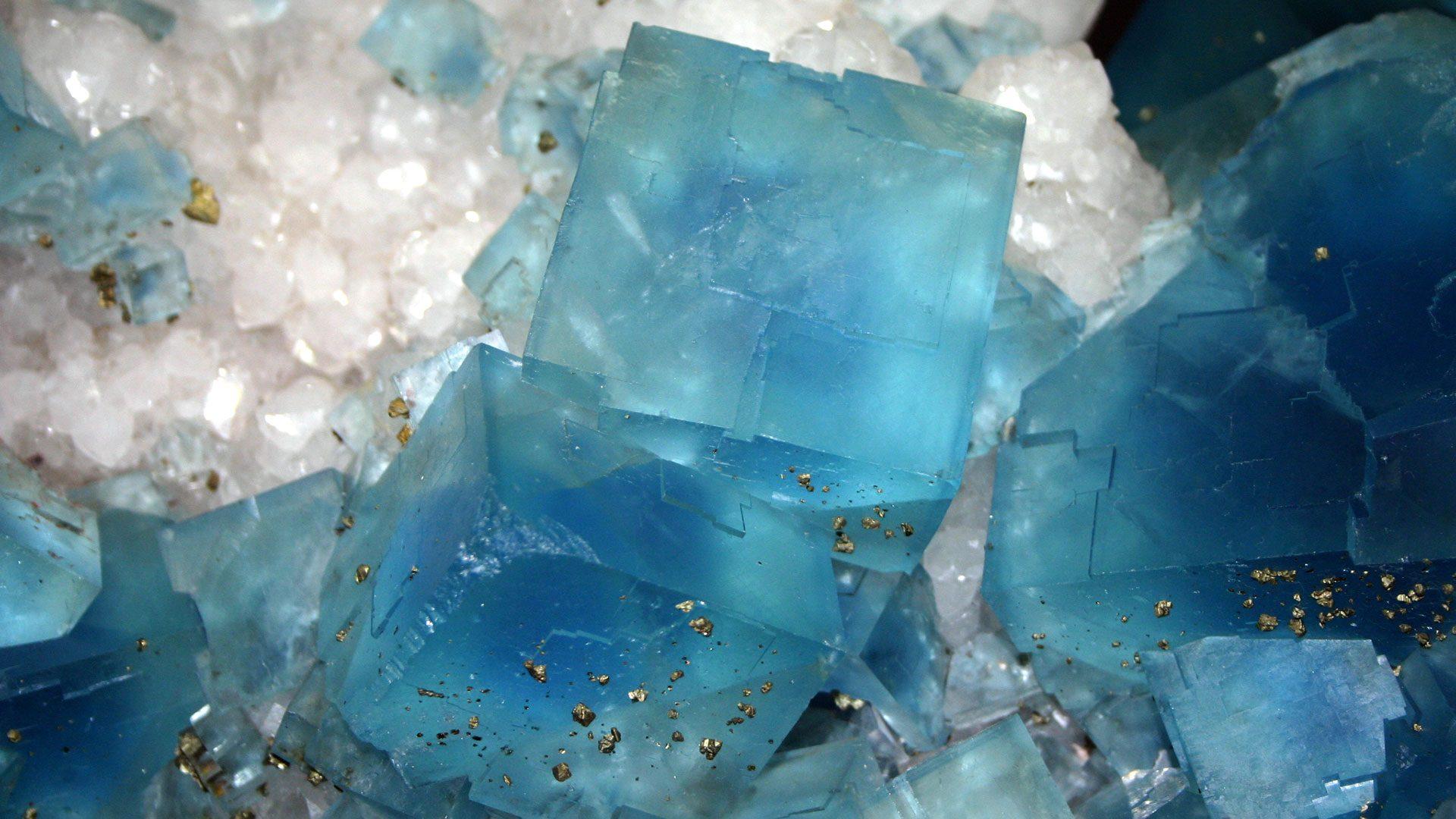 Terminated Blue Fluorite Crystal Specimen - Mineral Specimen - Photograph by Giovanni Dall'Orto