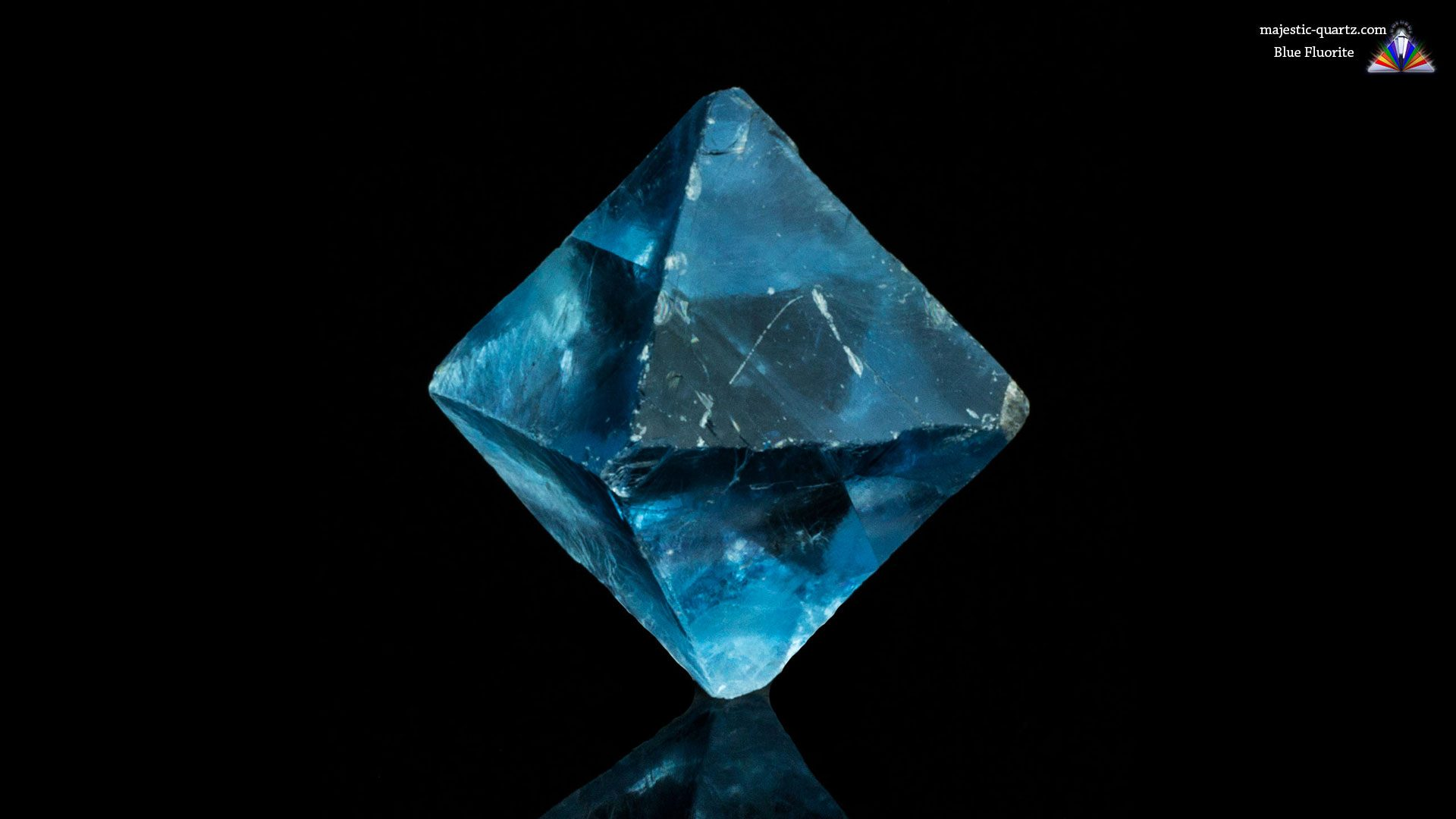 Terminated Blue Fluorite Crystal Specimen - Mineral Specimen - Photograph by Anthony Bradford