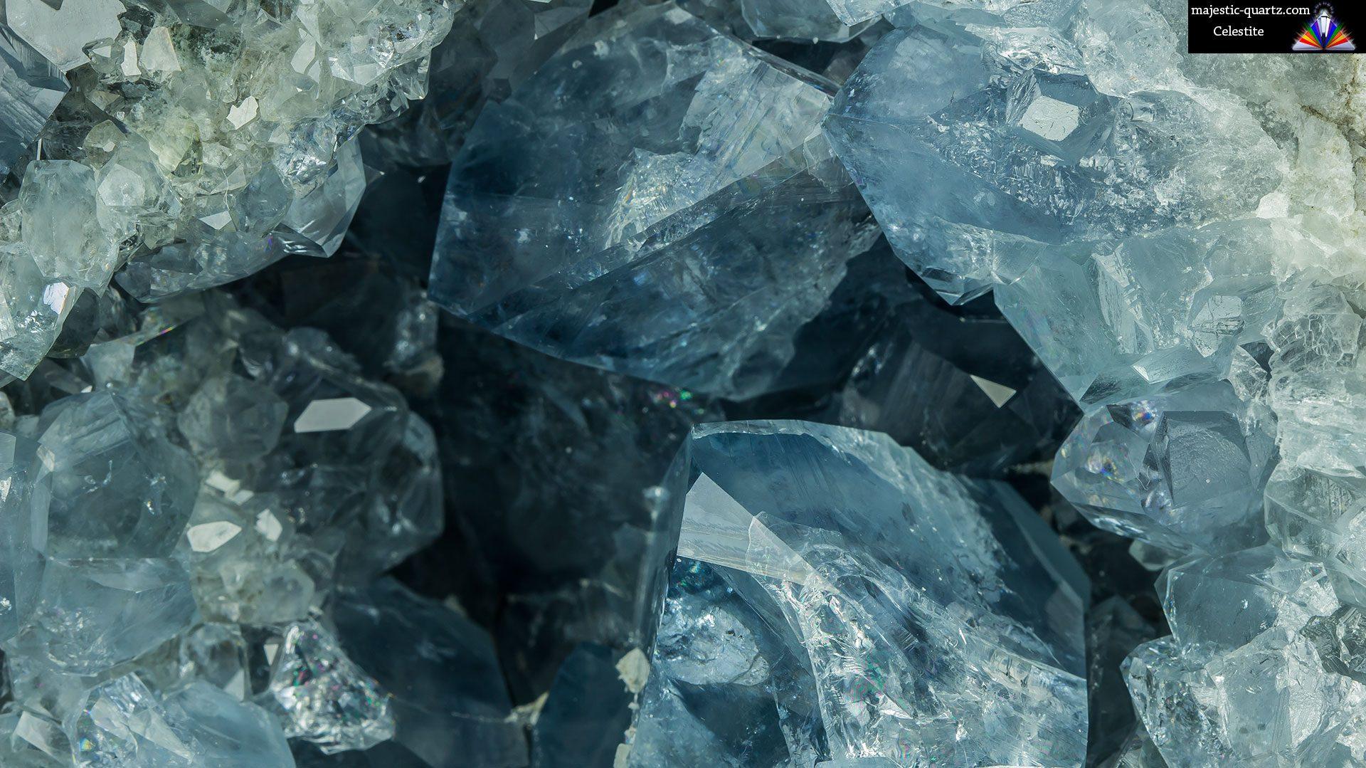 Celestite Crystal Geode Specimen - Photograph by Anthony Bradford