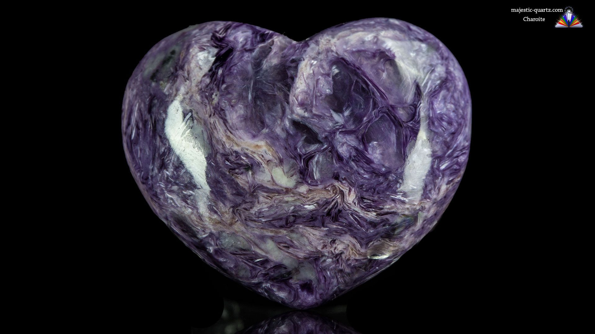 Charoite Polished Heart - Photograph by Anthony Bradford