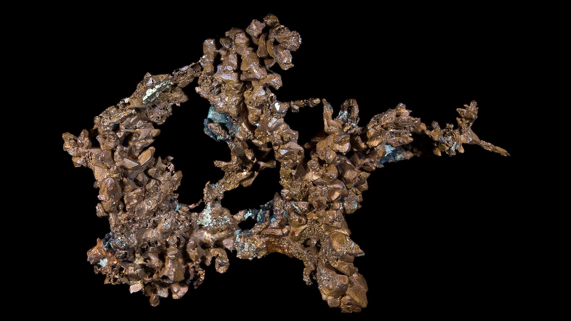 Copper Crystal Specimen - Original Photograph by Didier Descouens