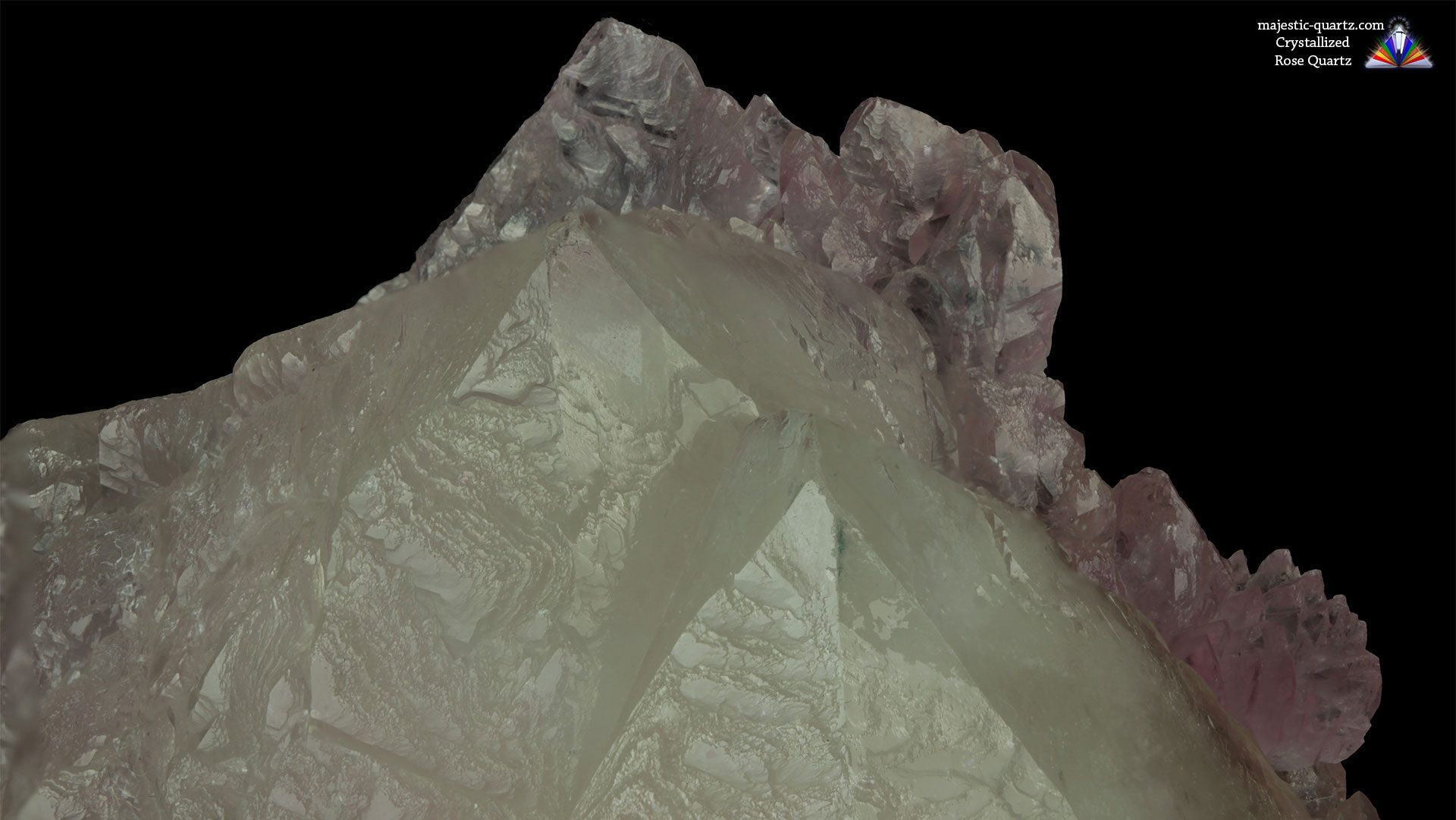 Crystallized Rose Quartz Crystal Specimen - Photograph by Anthony Bradford