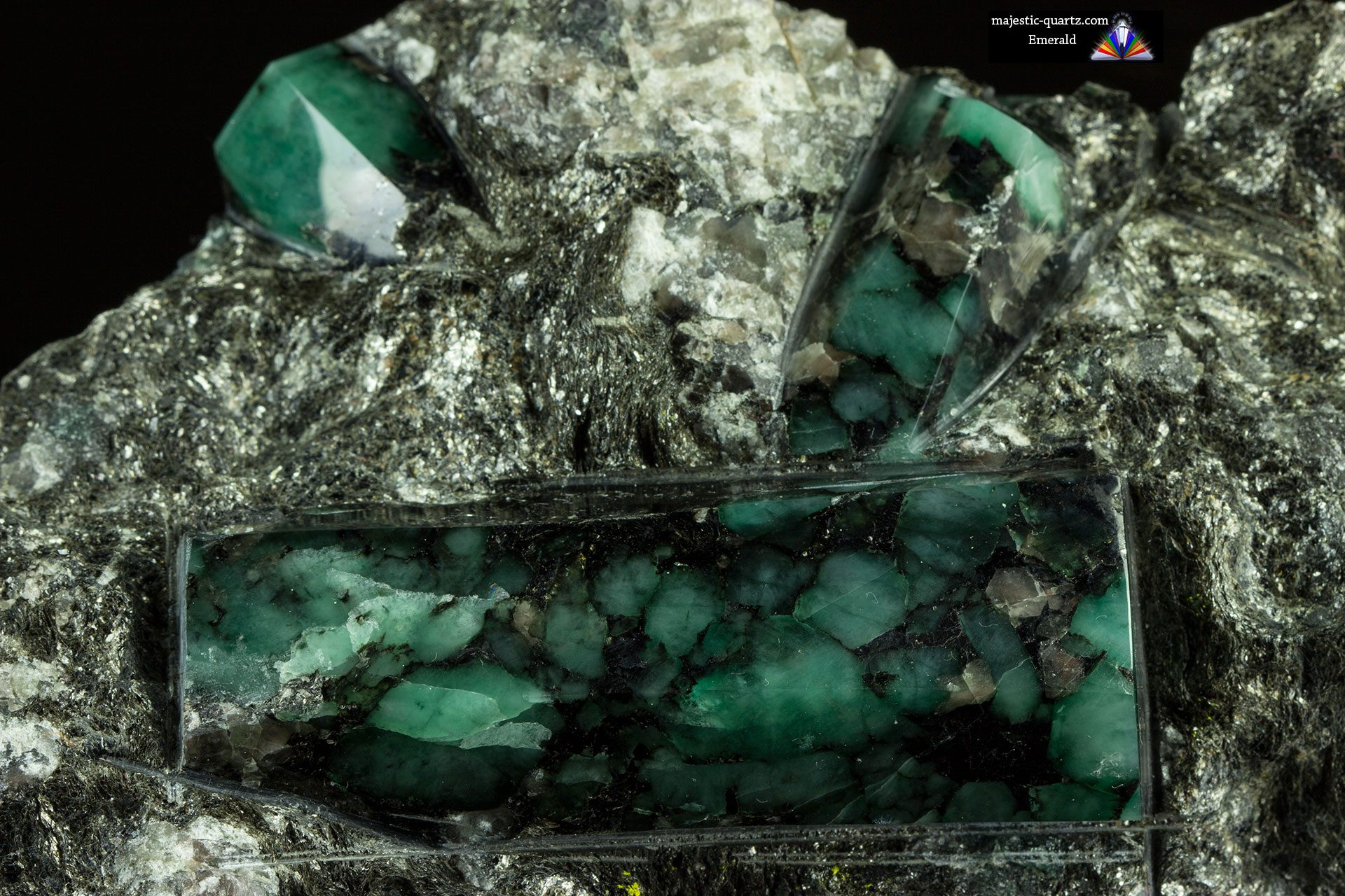 Polished Emerald on Matrix Crystal Specimen - Photograph by Anthony Bradford