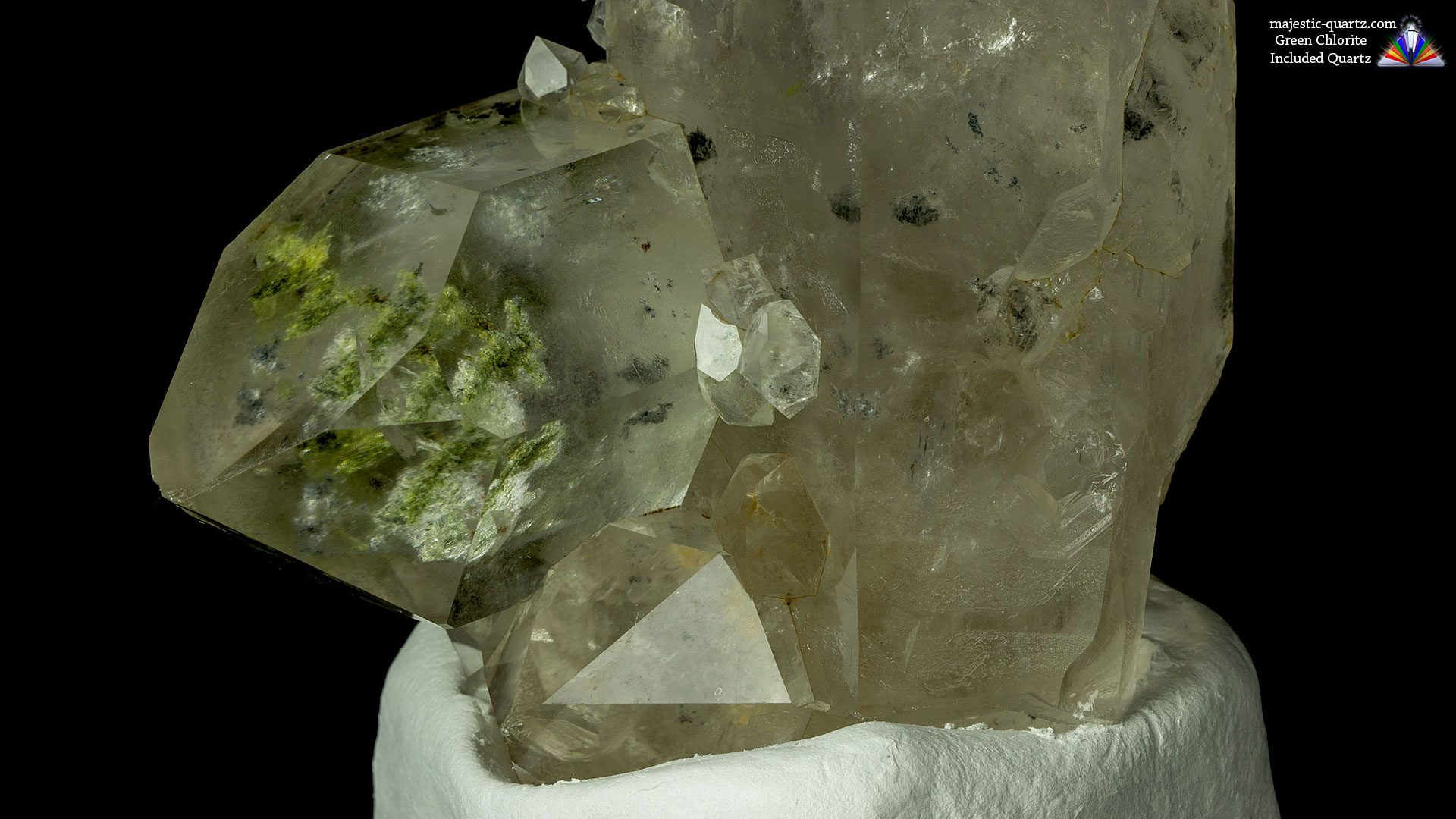 Green Chlorite Included Quartz Crystal - Photograph by Anthony Bradford