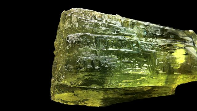 Yellow Beryl Crystal Specimen - (Heliodor) Original Photograph by Space Pen