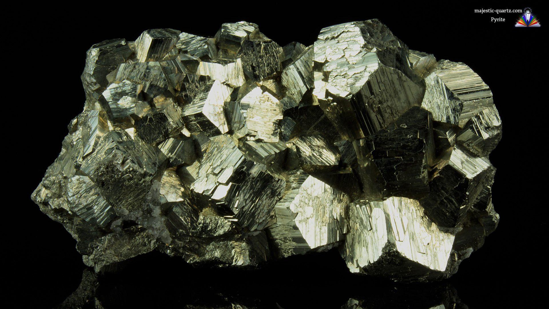 Pyrite Crystal Cluster - Mineral Specimen