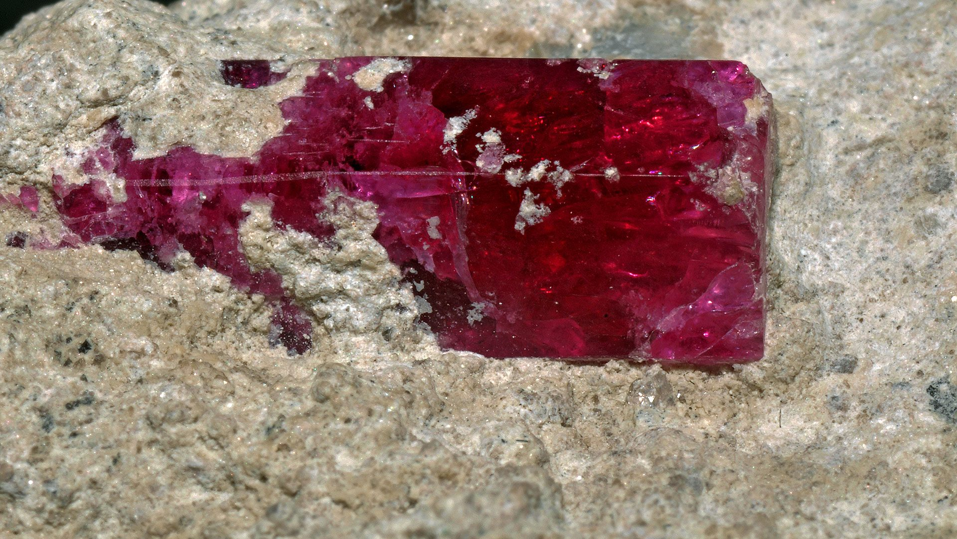 Terminated Bixbite Crystal Specimen - Red Beryl